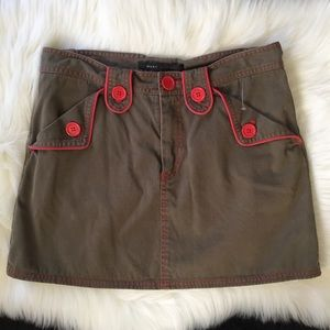 NEW Marc Jacobs skirt Sz. 6 womans olive green